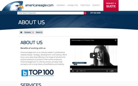Screenshot of About Page americaneagle.com - About Us | Website Design, Strategy, Development and Hosting | Americaneagle.com - captured March 5, 2016