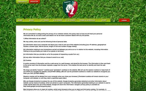 Screenshot of Privacy Page regentsparkfc.com - The Heath & Regents Park FC  |  Skill based football for kids & youth - captured Oct. 2, 2014