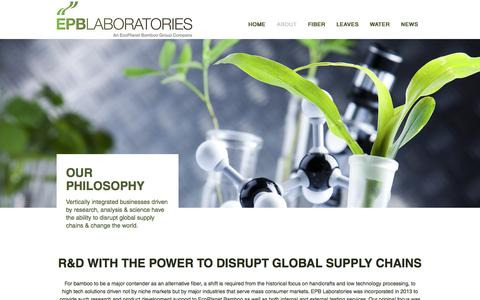 Screenshot of About Page epblaboratories.com - About EcoPlanet Bamboo Laboratories | CEO Troy Wiseman - captured July 14, 2018