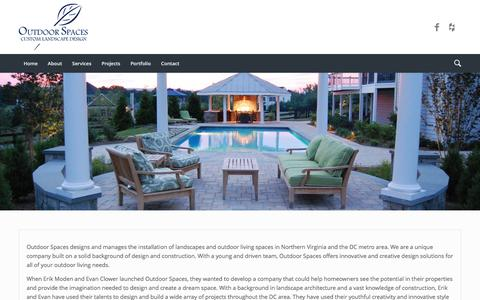 Screenshot of About Page outdoorspacesdesign.com - About - Outdoor Spaces in Leesburg VA - captured Nov. 30, 2016