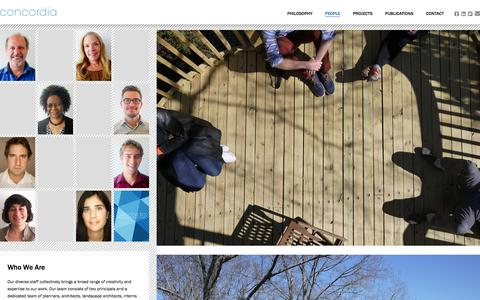 Screenshot of Team Page concordia.com - People - Concordia - captured Jan. 30, 2016