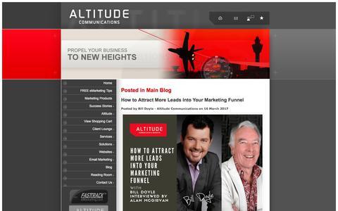 Screenshot of Blog altitudecommunications.com.au - Blog posts in Main Blog - captured July 29, 2018