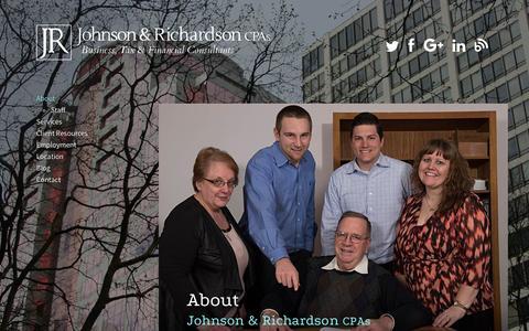 Screenshot of About Page jrichcpa.com - About Johnson & Richardson CPAs, Portland, Oregon - captured Feb. 11, 2016