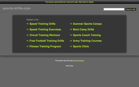 Screenshot of Home Page sports-drills.com - Sports-Drills.com - captured Jan. 27, 2015