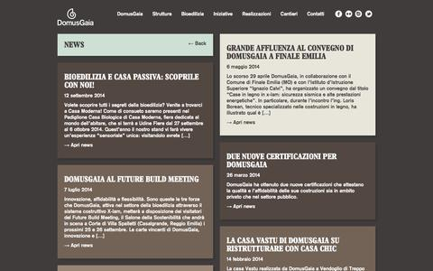Screenshot of Press Page domusgaia.it - News, eventi, fiere, rassegna stampa - Domusgaia - captured Sept. 30, 2014