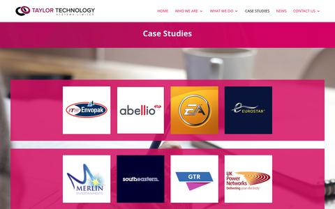 Screenshot of Case Studies Page taylortechnologysystems.com - CASE STUDIES - Taylor Technology Services - captured Oct. 18, 2018