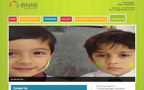 Screenshot of Contact Page drishtilearning.com - Contact Drishti Learning Nagpur | - captured Sept. 30, 2014