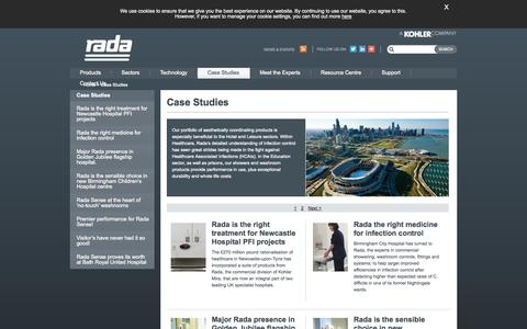 Screenshot of Case Studies Page radacontrols.com - Kohler Rada Limited: Case Studies - captured Oct. 9, 2014