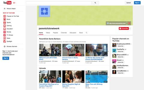 Screenshot of YouTube Page youtube.com - parentclicknetwork  - YouTube - captured Oct. 23, 2014