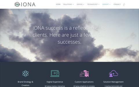 Screenshot of Case Studies Page ionainteractive.com - CASE STUDIES - IONA - captured Nov. 10, 2018