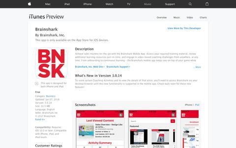 Brainshark on the App Store