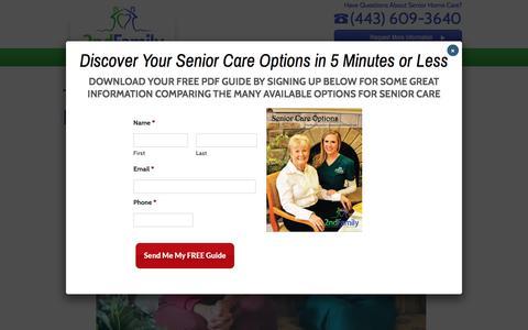 Screenshot of Testimonials Page 2ndfamily.com - Maryland Senior Care Testimonials | 2nd Family - captured June 11, 2017