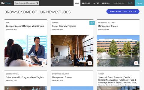 Screenshot of Jobs Page themuse.com - Job Search | Find The Best Jobs To Work For At The Muse - captured Oct. 12, 2019