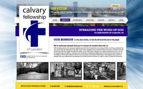 Screenshot of About Page calvarycamden.org - About Calvary of Camden - captured Oct. 18, 2016