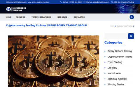 Cryptocurrency Trading Archives | SIRIUS FOREX TRADING GROUP