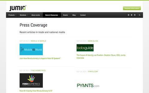 Press Coverage - Jumio