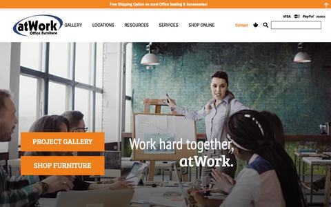 Screenshot of Home Page atwork.ca - Office Furniture | Office Furniture Ontario, Canada | atWork.ca - captured Oct. 4, 2018