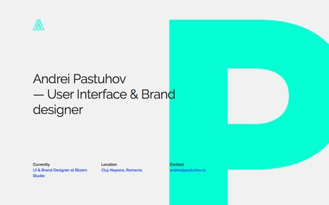 Screenshot of Home Page iumium.ro - Andrei Pastuhov - UI & Brand Designer - captured Aug. 6, 2016