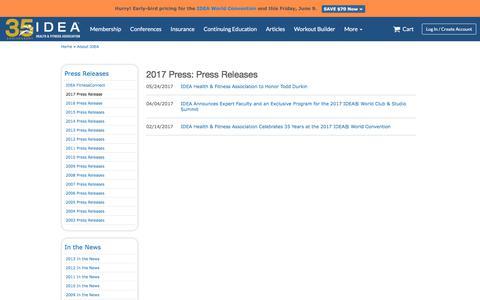 2017 Press: Press Releases