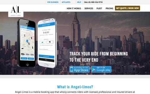 Screenshot of Home Page angel-limos.com - Car Service NYC, Limo Service NYC, Airports | Angel Limos - captured Nov. 16, 2015
