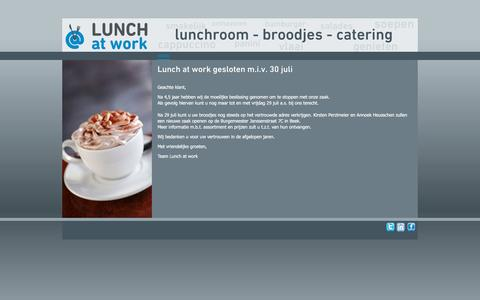 Screenshot of Home Page lunch-at-work.nl - Welkom bij Lunch at work - captured Nov. 15, 2016