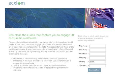 Screenshot of Landing Page acxiom.com - Acxiom | Global Consumer Data eBook - captured Oct. 1, 2017