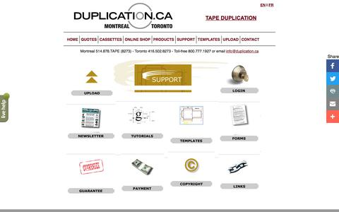 Screenshot of Support Page duplication.ca - Amtech Support Index - captured June 25, 2017