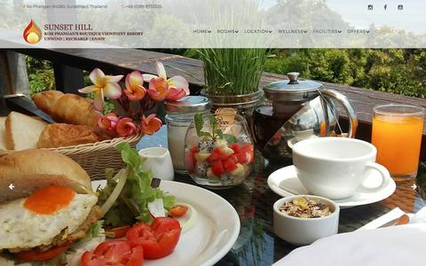 Screenshot of Contact Page sunsethillresort.com - Contact Us - Sunset Hill - Koh Phangan's Boutique Viewpoint Resort - captured Sept. 23, 2018