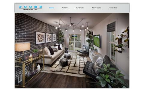 Screenshot of Home Page roomsinteriors.com - Rooms Interiors, Inc. - captured Feb. 23, 2016