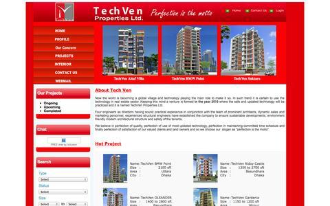Screenshot of Home Page techvenbd.com - TechVen Properties Ltd. - captured Oct. 1, 2014
