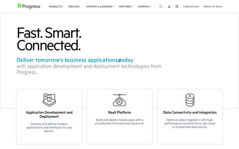 Screenshot of Home Page progress.com - Application Development and Deployment Technologies - Progress - captured March 29, 2017