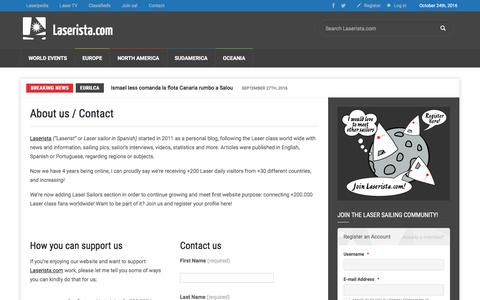 Screenshot of Contact Page laserista.com - About us / Contact Laserista - captured Oct. 25, 2016