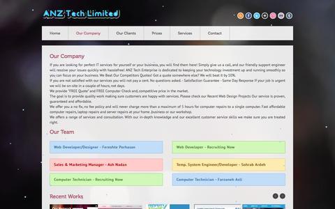 Screenshot of Team Page anztech.co.nz - ANZ Tech Limited (ANZTech) - captured May 1, 2016