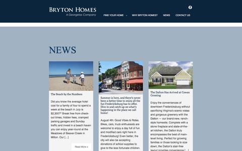 Screenshot of Press Page brytonhomes.com - Bryton Homes | A Georgelas Company - captured Aug. 4, 2018