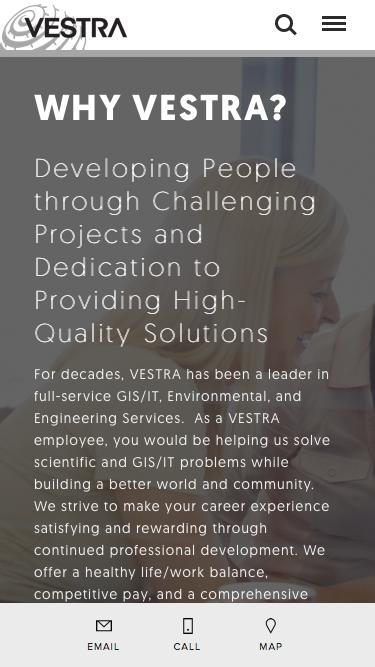 Screenshot of Jobs Page  vestra.com - Careers — Vestra