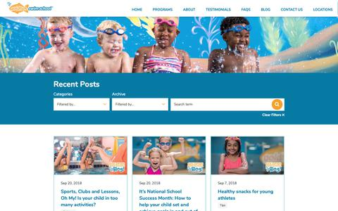 Screenshot of Blog goldfishswimschool.com - Our Blog | Goldfish Swim School - captured Sept. 29, 2018