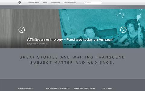 Screenshot of Home Page 67press.com - 67 Press - captured Feb. 24, 2016