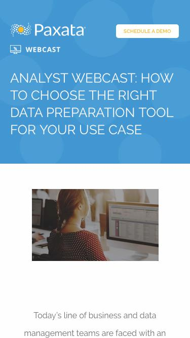 Analyst Webcast: How to Choose the Right Data Preparation Tool for Your Use Case