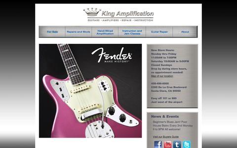 Screenshot of Home Page kingamplification.com - King Amplification Home Page - captured Sept. 30, 2014