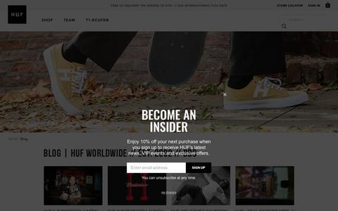 Screenshot of Blog hufworldwide.com - BLOG | HUF Worldwide // Est. 2002 // DBC - - captured Nov. 19, 2018