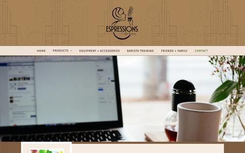 Screenshot of Contact Page espressions.com - Contact - Espressions Coffee Roastery - captured Sept. 29, 2018