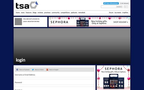 Screenshot of Login Page thesixthaxis.com - Video Gaming News & Reviews at TheSixthAxis - captured Oct. 6, 2018