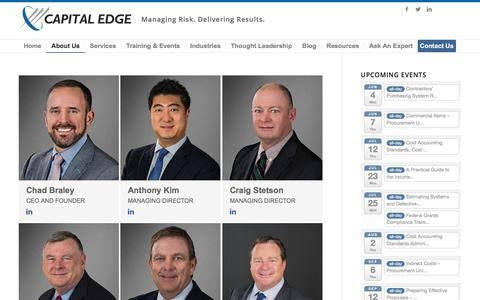 Screenshot of Team Page capitaledgeconsulting.com - Capital Edge Consulting |   Our Team - captured May 15, 2018