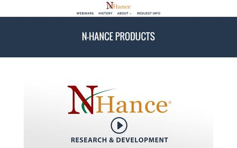 Screenshot of Products Page nhancefranchise.com - PRODUCTS - N-Hance Wood Renewal Franchise - captured Jan. 24, 2017