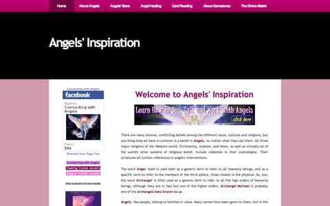 Screenshot of Home Page angels-inspiration.com - Angels' Inspiration and Angels' Inspirational Messages - captured Jan. 27, 2015