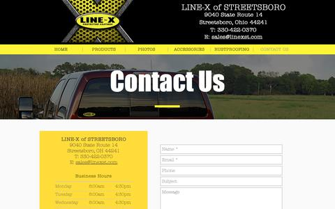 Screenshot of Contact Page linexst.com - LINE-X of Streetsboro, OH | Contact Us - captured Nov. 14, 2018