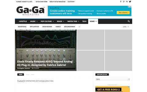 Screenshot of Press Page ga-ga.com - News Archives | Ga-GA the Arts and Culture Magazine - captured March 13, 2016