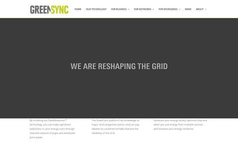 Screenshot of Home Page greensync.com.au - GreenSync - captured Sept. 17, 2015