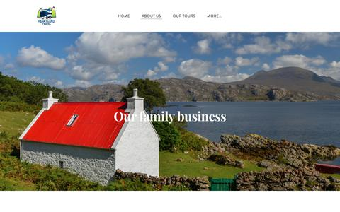 Screenshot of About Page heartlandtravel.co.uk - About Us | Heartland Travel Mini Coach Tours Of Scotland  - Heartland Travel - Tours of Scotland - captured July 18, 2018