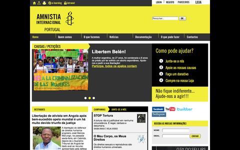 Screenshot of Home Page amnistia-internacional.pt - Amnistia Internacional Portugal - captured May 27, 2016
